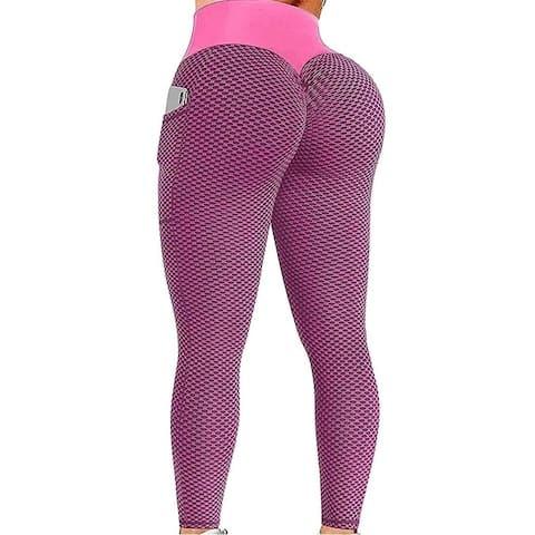 High-Waisted Pocket Hip Lift Solid Color Fitness Yoga Leggings