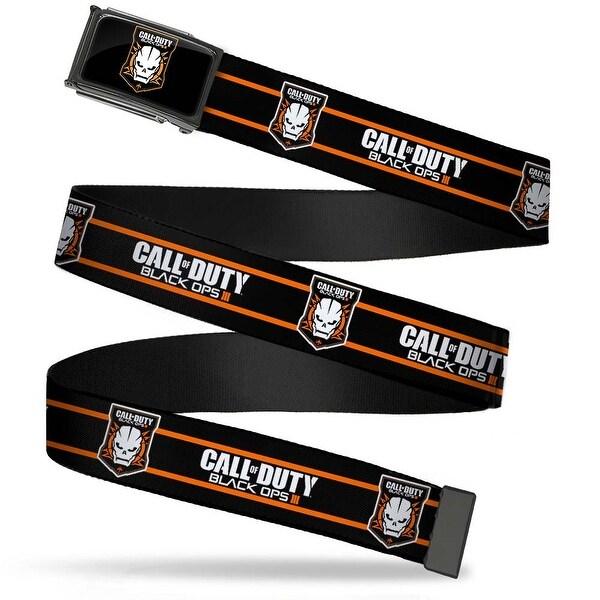Call Of Duty Black Ops Iii Skull Icon Fcg Black Orange White Chrome Web Belt