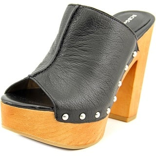 BCBGeneration Karena   Peep-Toe Leather  Mules