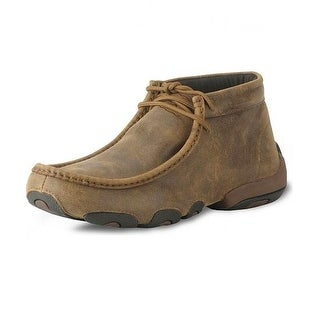 Twisted X Casual Shoes Mens Leather Driving Moc Bomber Brown MDM0003