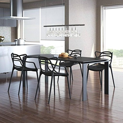 2xhome Set of Four 4 Modern Contemporary Stackable Design
