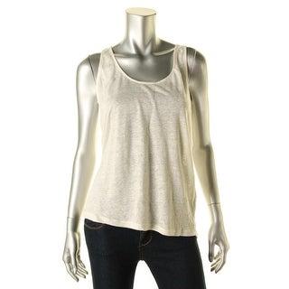 Zara Trafaluc Womens Linen Lace Back Tank Top - M