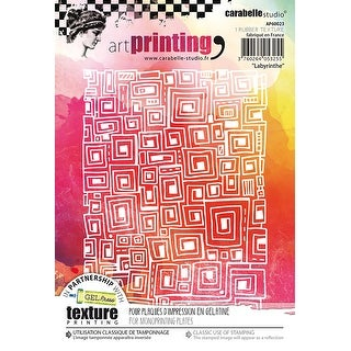 Carabelle Studio Art Printing A6 Rubber Texture Plate-Labyrinth