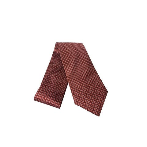 Gucci Geometric Red Orange Necktie 349407