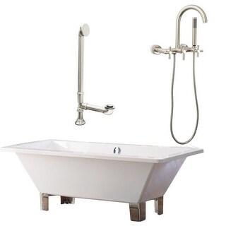 """Giagni LT5-C Tella 66"""" Free Standing Soaking Tub Package - Includes Tub, Tub Fee"""