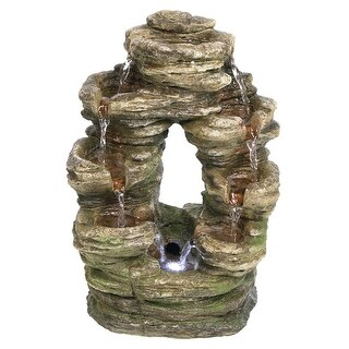Design Toscano Horseshoe Bend Illuminated Garden Fountain
