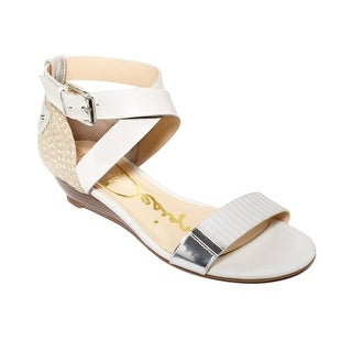 Enzo Angiolini Kahny Wedge Sandals - White Multi