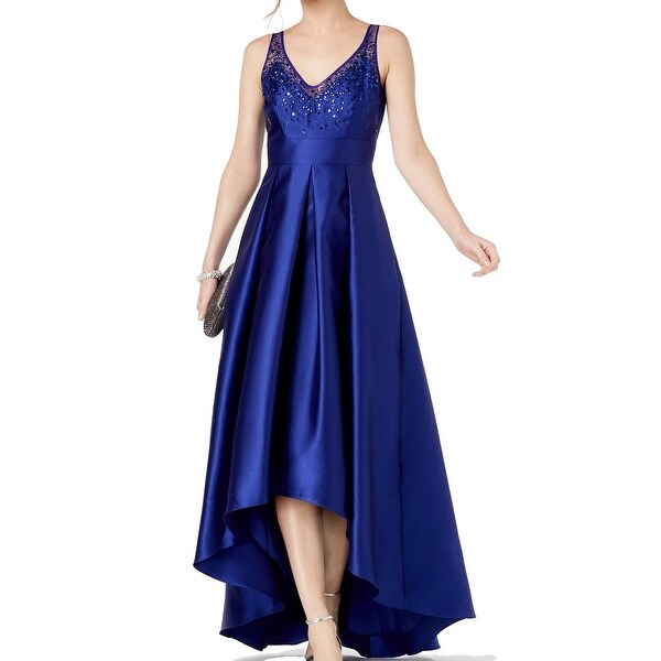 478db27d Shop Adrianna Papell Blue Womens Size 8 High Low Embellished Gown - On Sale  - Free Shipping Today - Overstock - 27369390