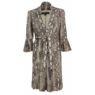 Nine West Women's Savannah Snake Print Skirt Suit