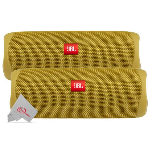 2 X JBL FLIP 5 Waterproof Portable Bluetooth Speaker - Yellow