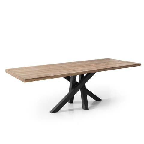CENSO Wood Dining Table - Walnut/Graphite