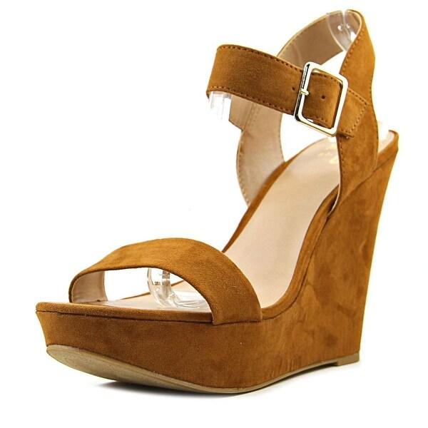 Mix No 6 Jordie Women Open Toe Canvas Tan Wedge Sandal