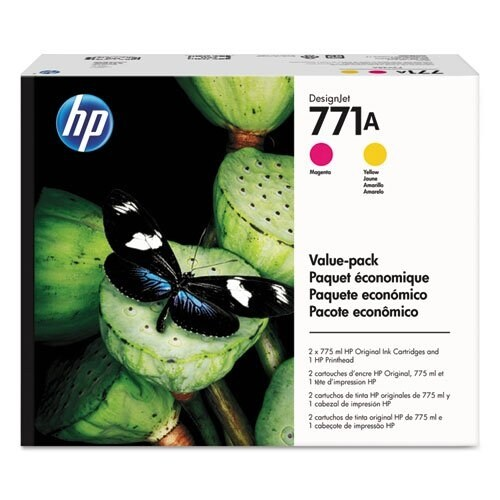 """HP 771A Printhead Ink Cartridge Value Pack (Single Pack) Printhead and Ink Cartridge"""