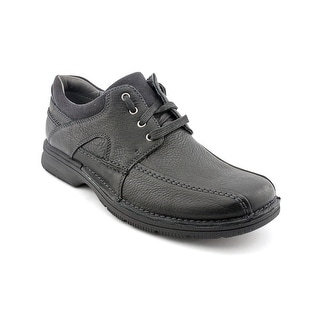Clarks Senner Blvd Men Bicycle Toe Leather Black Oxford