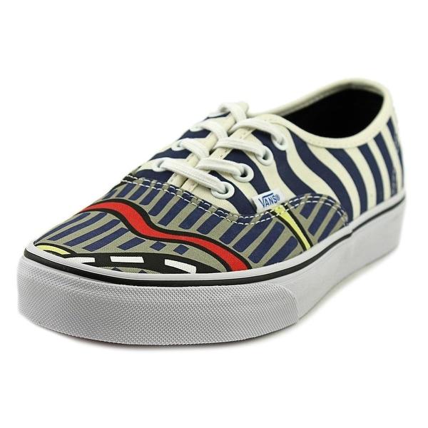 Vans Authentic  Men  Round Toe Canvas Blue Sneakers