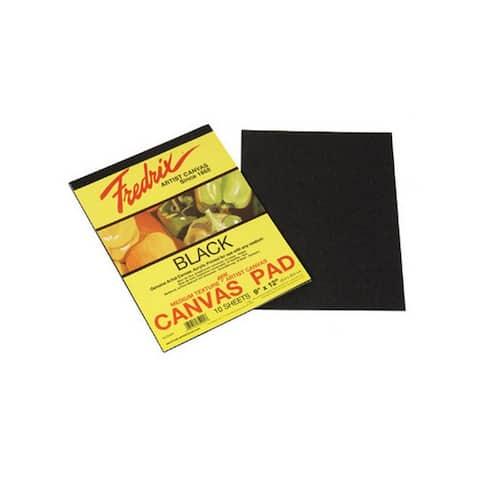 Tara/fredrix 35031 black real canvas pad 10 sheets 18x24