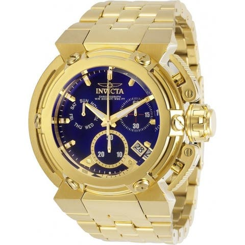 Invicta Men's 29638 'Coalition Forces' Gold-Tone Stainless Steel Watch - Blue