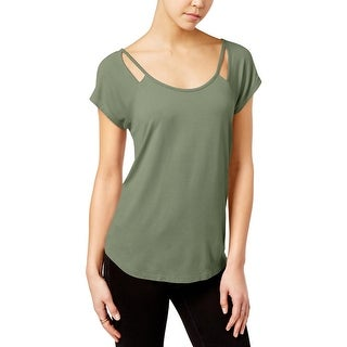 Almost Famous Womens Juniors Casual Top Knit Cut-Out