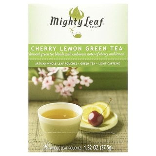Mighty Leaf Tea Green Tea; Cherry Lemon - (Case of 6 - 15 bags)