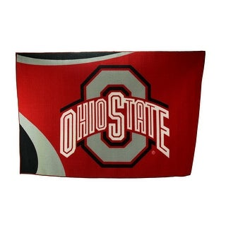 Ohio State University Buckeyes 39 By 59 Inch Tufted Non-Skid Area Rug - Red