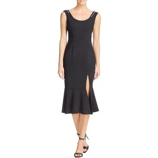 Black Halo Womens Party Dress Sheath Front Slit