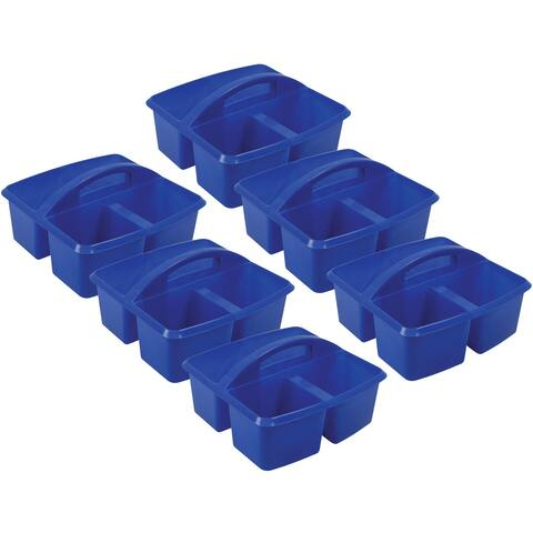 Small Utility Caddy, Blue, Pack of 6