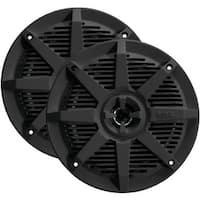 2-Way Full-Range Marine Speakers, Black - 6.5 in.