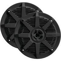 Boss Audio MR62B 2-Way Full-Range Marine Speakers, Black - 6.5 in.
