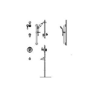 delta t13h98220 commercial pressure balanced shower system with shower head handshower hose