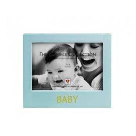 The Daniels Collection Blue Wooden Baby Picture Frame