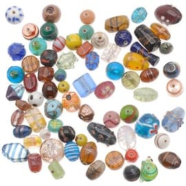 1/2 Pound Lampwork Glass Beads Mix Assorted Styles & Sizes (8 oz)|https://ak1.ostkcdn.com/images/products/is/images/direct/22b3e29491996cba511b0b151e598f8d309bdba4/1-2-Pound-Lampwork-Glass-Beads-Mix-Assorted-Styles-%26-Sizes-%288-oz%29.jpg?impolicy=medium