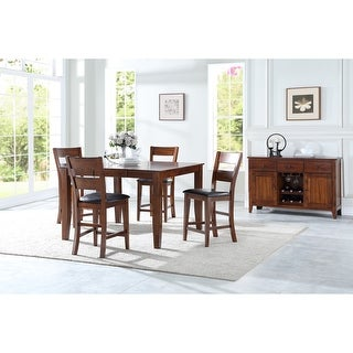 Link to Porch & Den Lamar 6-Piece Cherry Gathering Height Dining Room Set Similar Items in Dining Room & Bar Furniture