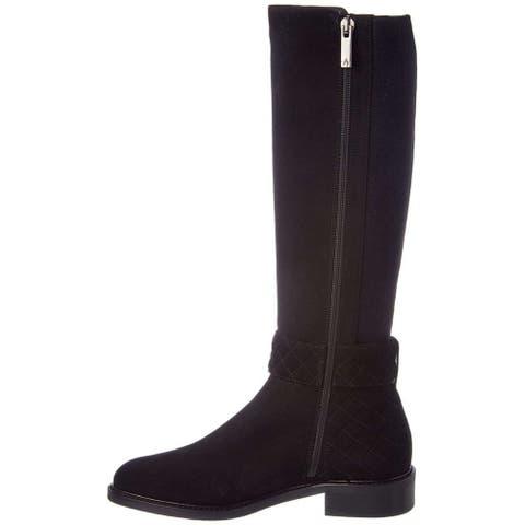 Aquatalia Womens Gabrielle Calf Hair Almond Toe Knee High Fashion Boots