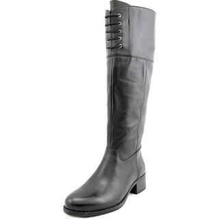 Isaac Mizrahi Leslie Round Toe Leather Knee High Boot