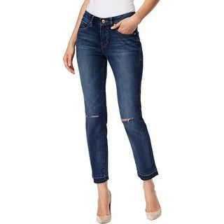 Jag Jeans Womens Rochelle Slim Jeans Frayed Mid-Rise