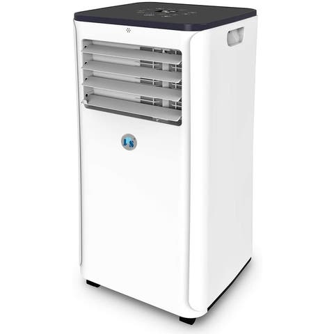 10,000 BTU Smart Portable Air Conditioner Wi-Fi 3-in-1 Floor AC Unit with 2 Fan Speeds, Remote Control and Digital LED Display