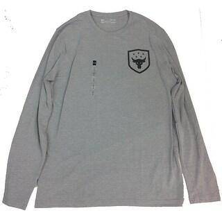 Under Armor Men's Brahma Bull Never Full Long Sleeve Shirt Grey Medium