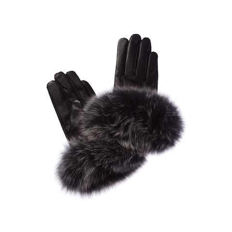La Fiorentina Leather Glove - Black/Snow