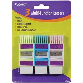 DDI 1916175 3 pack Multi-Function Sharpeners and Erasers Case of 48