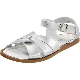 Salt Water Womens Leather Metallic Sport Sandals - 9 medium (b,m)