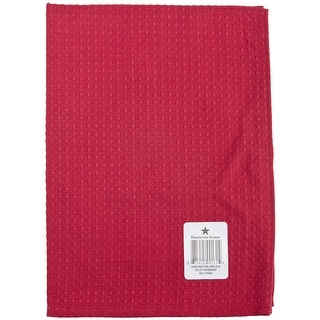 """Waffle Weave Tea Towel 20""""X28""""-Cranberry - Red"""
