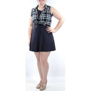 EMERALD SUNDAE New 1680 Navy Includes W/ Plaid Vest A-Line Dress Juniors S B+B