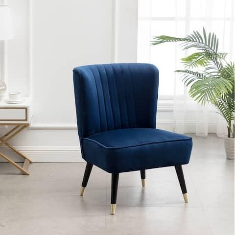 Elon Contemporary Velvet Upholstered Accent Chair