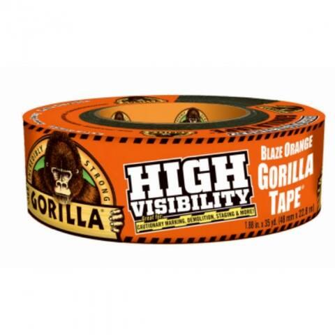 "Gorilla 6004002 High Visibility Tape, Blaze Orange, 1.88"" x 35 Yd"