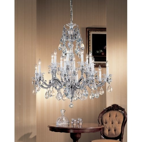 Classic lighting 57116 ms 38 crystal chandelier from the via classic lighting 57116 ms 38 crystal chandelier from the via firenze collection aloadofball Gallery