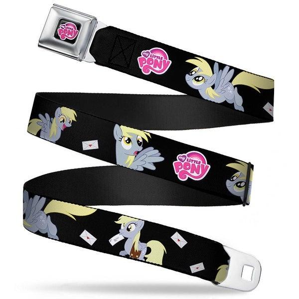 My Little Pony Logo Full Color Black Pink Derpy W Cards & Mlp Logo Black Seatbelt Belt