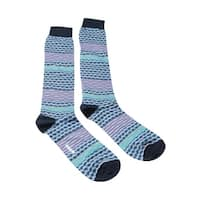 Missoni GM00CMU5238 0003 Gray/Navy Knee Length Socks - Grey