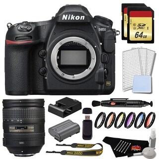 Nikon D850 DSLR Camera Gold Bundle + Nikon AF-S NIKKOR 28-300mm f/3.5-5.6G ED VR Lens