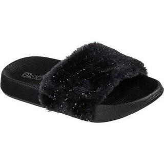 Skechers Girls' Sunny Slides Sandal Black
