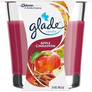 Glade 76947 Air Freshener Jar Candle, 3.4 Oz, Apple Cinnamon